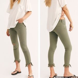 Free People Great Heights Skinny's in Green